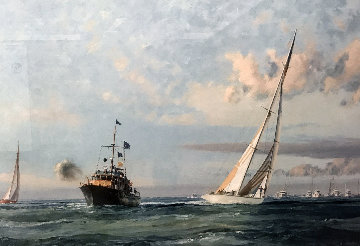Triumph in America  Australia II  Winning America's Cup  1984 Limited Edition Print - John Stobart