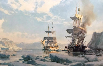 Whaling in the Arctic 1978 Limited Edition Print - John Stobart