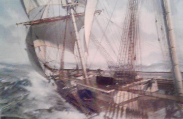 Lighting Rounding 2002 Limited Edition Print by John Stobart