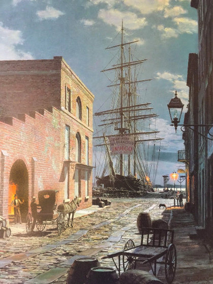 Charleston: Prioleau Street in 1870 Limited Edition Print by John Stobart