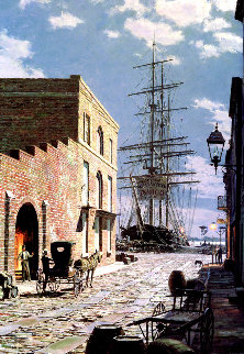 Charleston: Priolean Street in 1870  Limited Edition Print - John Stobart