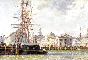 Boston Faneuil Hall From the East 1825 Limited Edition Print - John Stobart