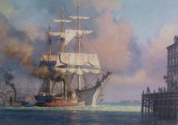 Harbor Farwell 2004 Limited Edition Print by John Stobart