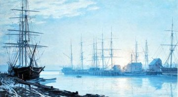 Sunrise Over Nantucket in 1835 1987 Limited Edition Print by John Stobart