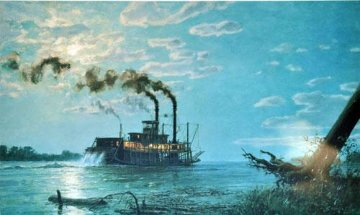 Night Run to Friar's Point Limited Edition Print by John Stobart