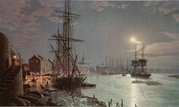 Moonlight Over the Savannah River in 1850 Limited Edition Print - John Stobart