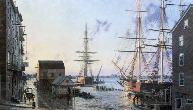 Portsmouth Merchants Rowoverlooking Pascatagua River 1828 Limited Edition Print by John Stobart