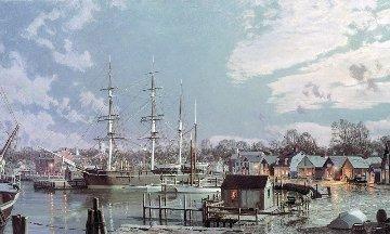 Mystic Seaport  Charles W. Morgan 1991 Limited Edition Print - John Stobart