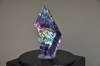 Small Purple Aerial Unique Glass Sculpture 2009 11 in Sculpture by Jack Storms - 2