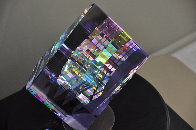Small Purple Aerial Unique Glass Sculpture 2009 11 in Sculpture by Jack Storms - 5