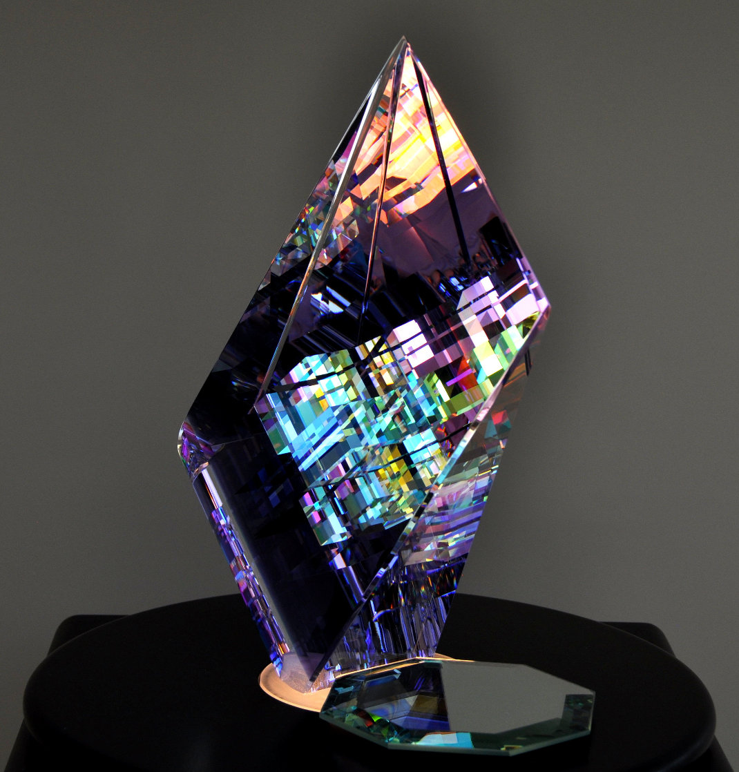 Small Purple Aerial Unique Glass Sculpture 2009 11 in Sculpture by Jack Storms