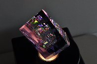 Small Purple Aerial Unique Glass Sculpture 2009 11 in Sculpture by Jack Storms - 6