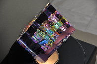 Small Purple Aerial Unique Glass Sculpture 2009 11 in Sculpture by Jack Storms - 4