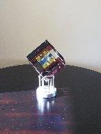 Rose Spectrum Crystal Cube Unique Sculpture 2016 5 in Sculpture by Jack Storms - 2