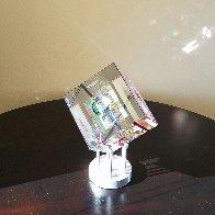 Rose Spectrum Crystal Cube Unique Sculpture 2016 5 in Sculpture by Jack Storms - 4