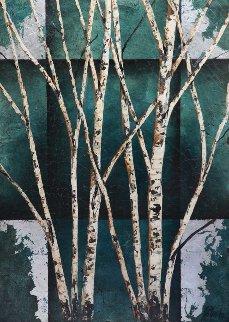 Color of Winter on wood 52x38 Super Huge Original Painting - Rolinda Stotts