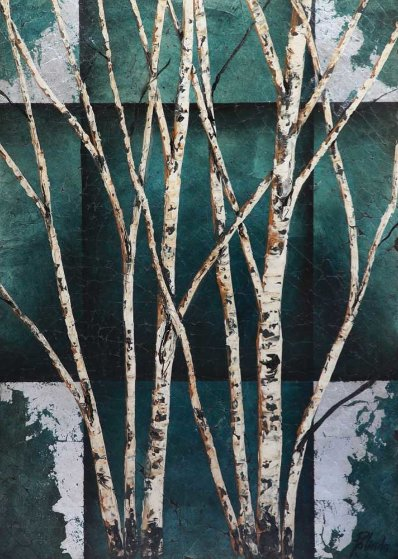 Color of Winter on wood 52x38 Original Painting by Rolinda Stotts