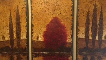 Reflections Tryptich 2006 48x78 Super Huge Original Painting - Rolinda Stotts