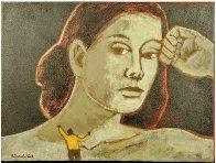 Sexual Politics 18x24 Original Painting by James Strombotne - 1
