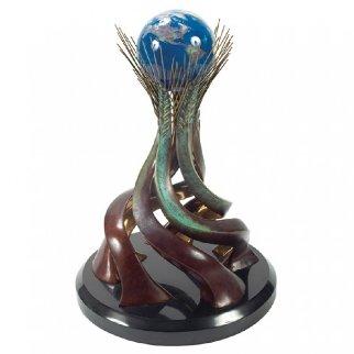 World Friendship Monument Bronze and Glass Sculpture 1991 17 in Sculpture - Brett Livingstone Strong