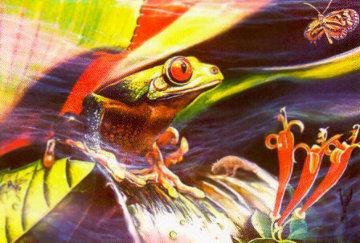 Jurassic Frog 1984 Limited Edition Print - Brett Livingstone Strong