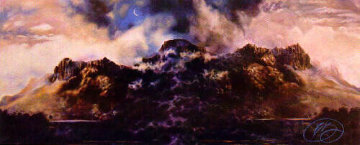 Mountain and Moon 1984 Limited Edition Print by Brett Livingstone Strong