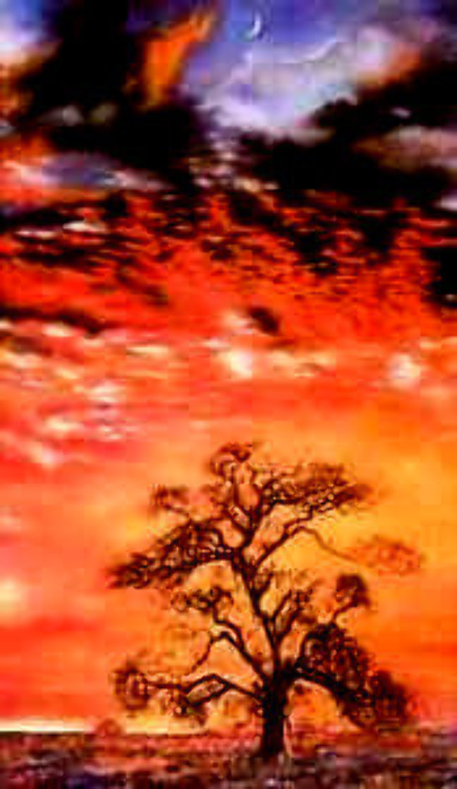 Sunset Tree 1984 Limited Edition Print by Brett Livingstone Strong