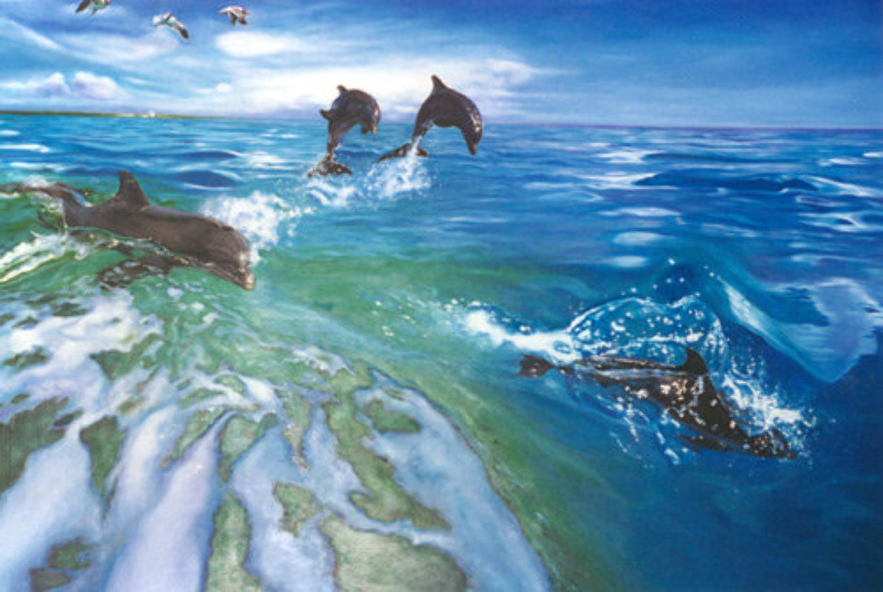Dolphins 1984 Limited Edition Print by Brett Livingstone Strong