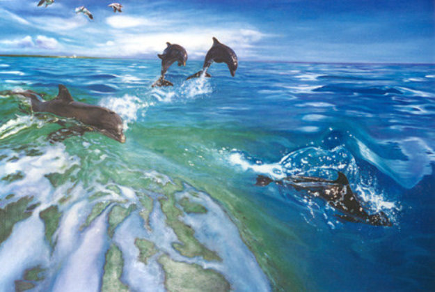 The Dolphins 1984 Limited Edition Print by Brett Livingstone Strong