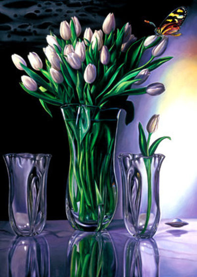 White Tulip 1984 Limited Edition Print by Brett Livingstone Strong