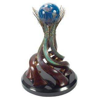 World Friendship Bronze Sculpture 1991 17 in Sculpture by Brett Livingstone Strong