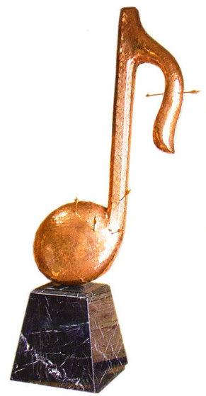 Musical Note Heavy Metal Bronze Sculpture 1991 72 iin Sculpture by Brett Livingstone Strong