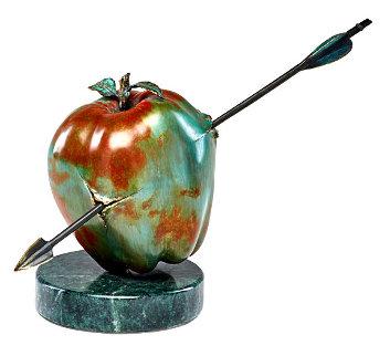 Our Vulnerable World Bronze Sculpture 1991 15 in Sculpture by Brett Livingstone Strong