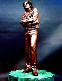 Lennon Wax Sculpture 1991 18 in Sculpture by Brett Livingstone Strong