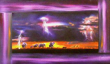 Africa 1991 29x43 Original Painting by Brett Livingstone Strong