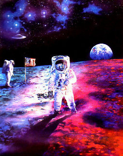 Lunar Discovery 1991 46x39 Original Painting by Brett Livingstone Strong