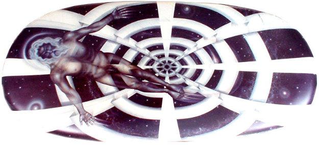 Creation of Man 1991 48x8' Original Painting by Brett Livingstone Strong