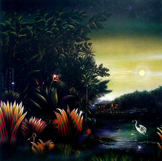 Homage a Henri Rousseau: Tango in the Night 1987 Limited Edition Print by Brett Livingstone Strong