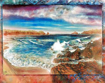 Surreal Sea 1990 Serigraph 31 x 40 Limited Edition Print - Brett Livingstone Strong