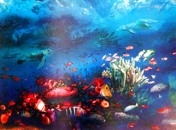 Great Barrier Reef 1996 w Remarque Limited Edition Print - Brett Livingstone Strong