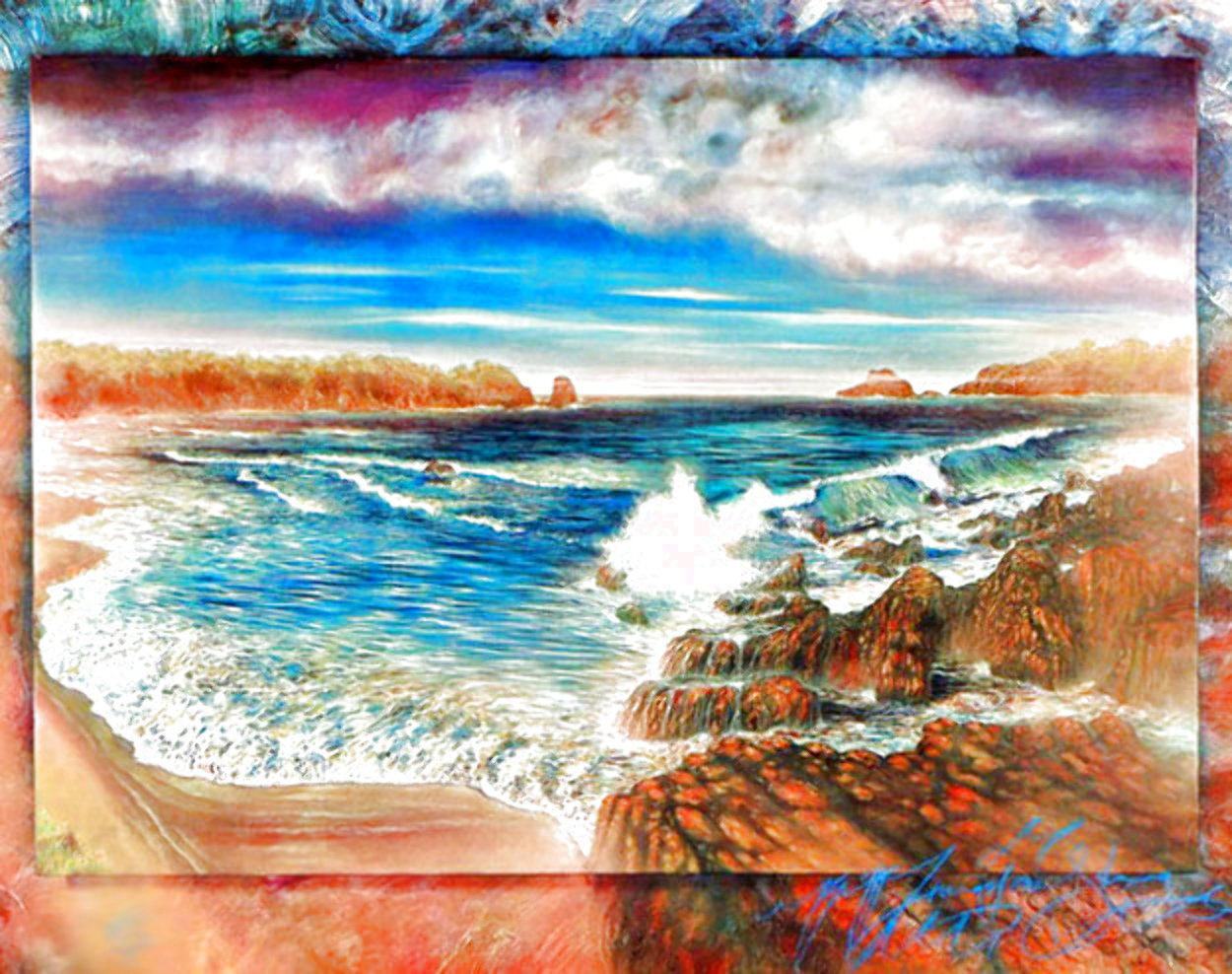 Surreal Sea AP 1990 Huge Limited Edition Print by Brett Livingstone Strong