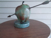 Vulnerable World Bronze Sculpture 1991 15 in Sculpture by Brett Livingstone Strong - 4