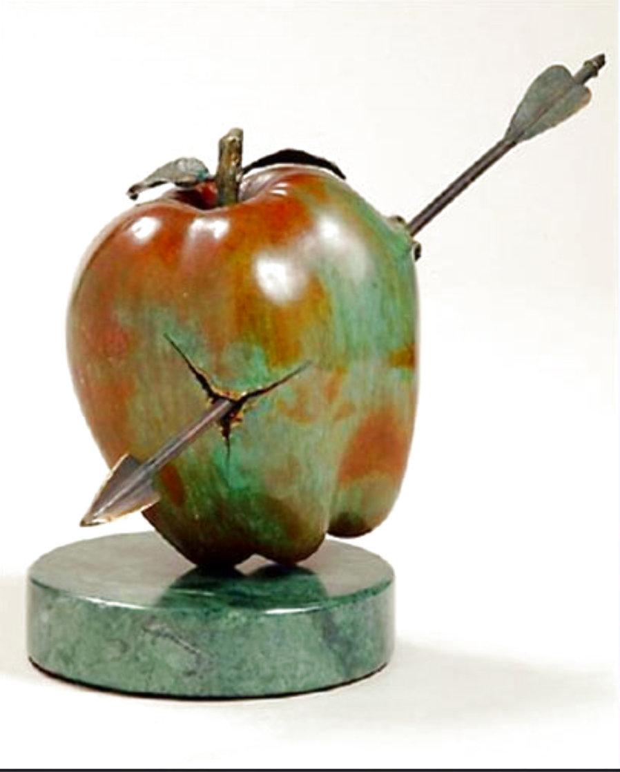 Vulnerable World Bronze Sculpture 1991 15 in Sculpture by Brett Livingstone Strong