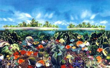 Tahitian Black Pearl Limited Edition Print by Brett Livingstone Strong