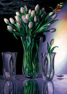 White Tulips Limited Edition Print by Brett Livingstone Strong