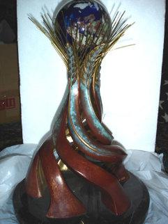 World Friendship Monument Bronze Sculpture 1991 Sculpture by Brett Livingstone Strong