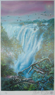 Victoria Falls (Africa) 1993 Limited Edition Print by Brett Livingstone Strong