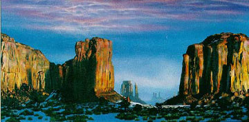 Mounument and 7 Natural Wonders (Suite of 7 Serigraphs) 1992 Limited Edition Print by Brett Livingstone Strong