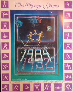 1984 Olympic Games AP Limited Edition Print by Brett Livingstone Strong