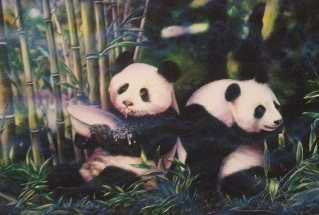 Pandas 1997 Limited Edition Print by Brett Livingstone Strong
